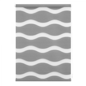 Lichtblick Duo Rollo Welle Klemmfix, ohne Bohren, Grau, 45 cm x 150 cm (B x L)