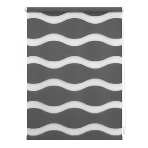 Lichtblick Duo Rollo Welle Klemmfix, ohne Bohren, Anthrazit, 90 cm x 150 cm (B x L)