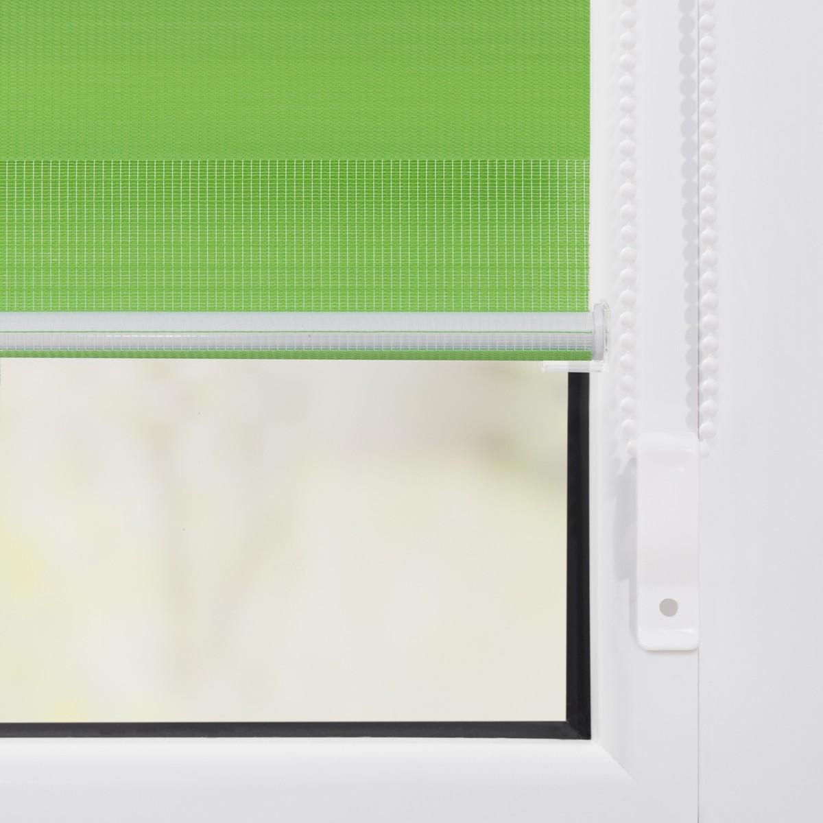 Bild 4 von Lichtblick Duo-Rollo Klemmfix, ohne Bohren - Grün, 70 cm x 150 cm (B x L)