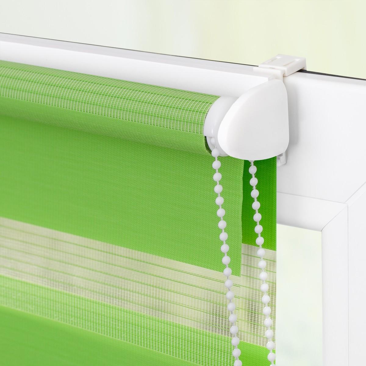 Bild 5 von Lichtblick Duo-Rollo Klemmfix, ohne Bohren - Grün, 70 cm x 150 cm (B x L)