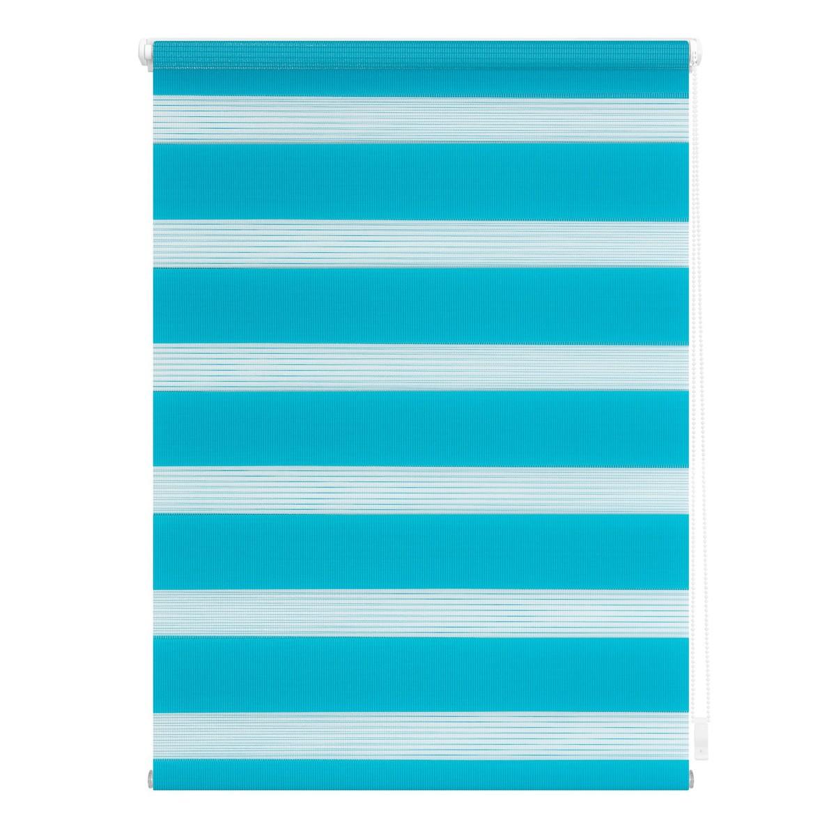 Bild 1 von Lichtblick Duo-Rollo Klemmfix, ohne Bohren - Blau, 110 cm x 150 cm (B x L)