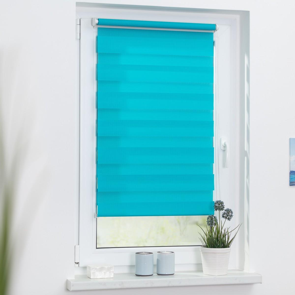 Bild 3 von Lichtblick Duo-Rollo Klemmfix, ohne Bohren - Blau, 110 cm x 150 cm (B x L)