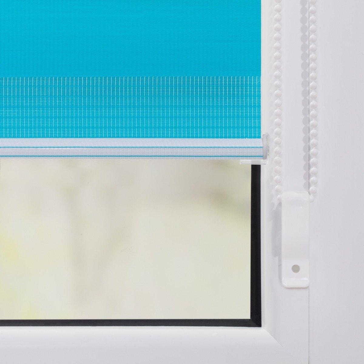 Bild 4 von Lichtblick Duo-Rollo Klemmfix, ohne Bohren - Blau, 110 cm x 150 cm (B x L)