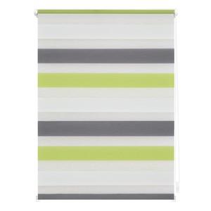Lichtblick Duo-Rollo Klemmfix, ohne Bohren, Bunt - Grün - Grau - Anthrazit, 90 x 150 cm (B x L)