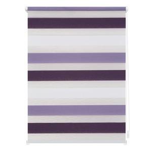 Lichtblick Duo-Rollo Klemmfix, ohne Bohren, Bunt - Violett - Lila - Weiß, 90 x 220 cm (B x L)