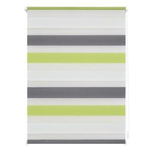 Lichtblick Duo-Rollo Klemmfix, ohne Bohren, Bunt - Grün - Grau - Anthrazit, 110 x 150 cm (B x L)