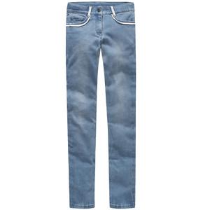Mädchen Skinny-Jeans mit Spitzen-Applikation