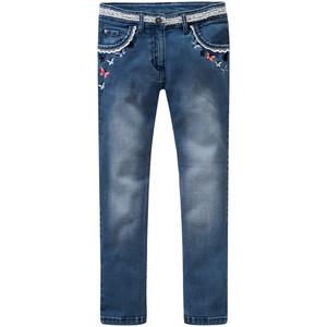 Mädchen Skinny-Jeans mit Stickerei