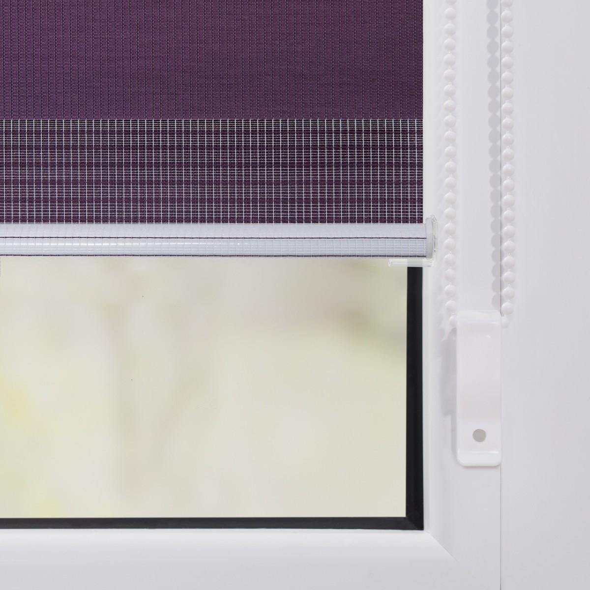Bild 4 von Lichtblick Duo-Rollo Klemmfix, ohne Bohren - Brombeer, 45 cm x 150 cm (B x L)