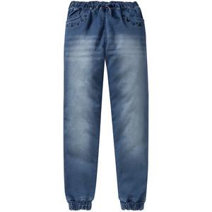 Mädchen Pull-on-Jeans mit Stickerei