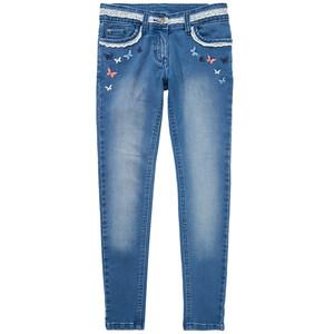 Mädchen Skinny-Jeans mit Spitzen Applikation