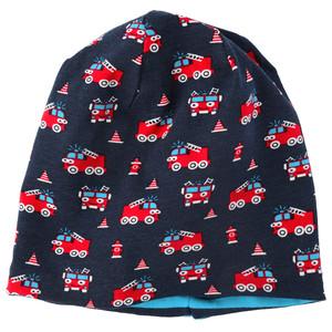 Baby Mütze mit Feuerwehr-Motiv