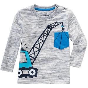 Baby T-Shirt mit Kran-Motiv