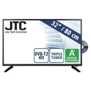 """32""""-LED-HD-TV/DVD Atlantis 3.2D • Auflösung 1.366 x 768 Pixel • 3 HDMI-/2 USB-Anschlüsse, CI+ • Stand-by: 0,5 Watt, Betrieb: 31 Watt • Maße: H 43,4 x B 73,2 x T 8,9 cm • Energie-Effizi"""