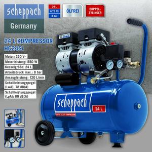 Scheppach Kompressor HC24Si 24L