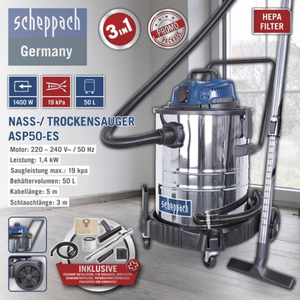 Scheppach Nass-/ Trockensauger ASP50-ES