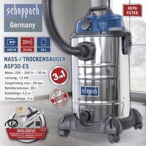 Scheppach Nass-/ Trockensauger ASP30-ES