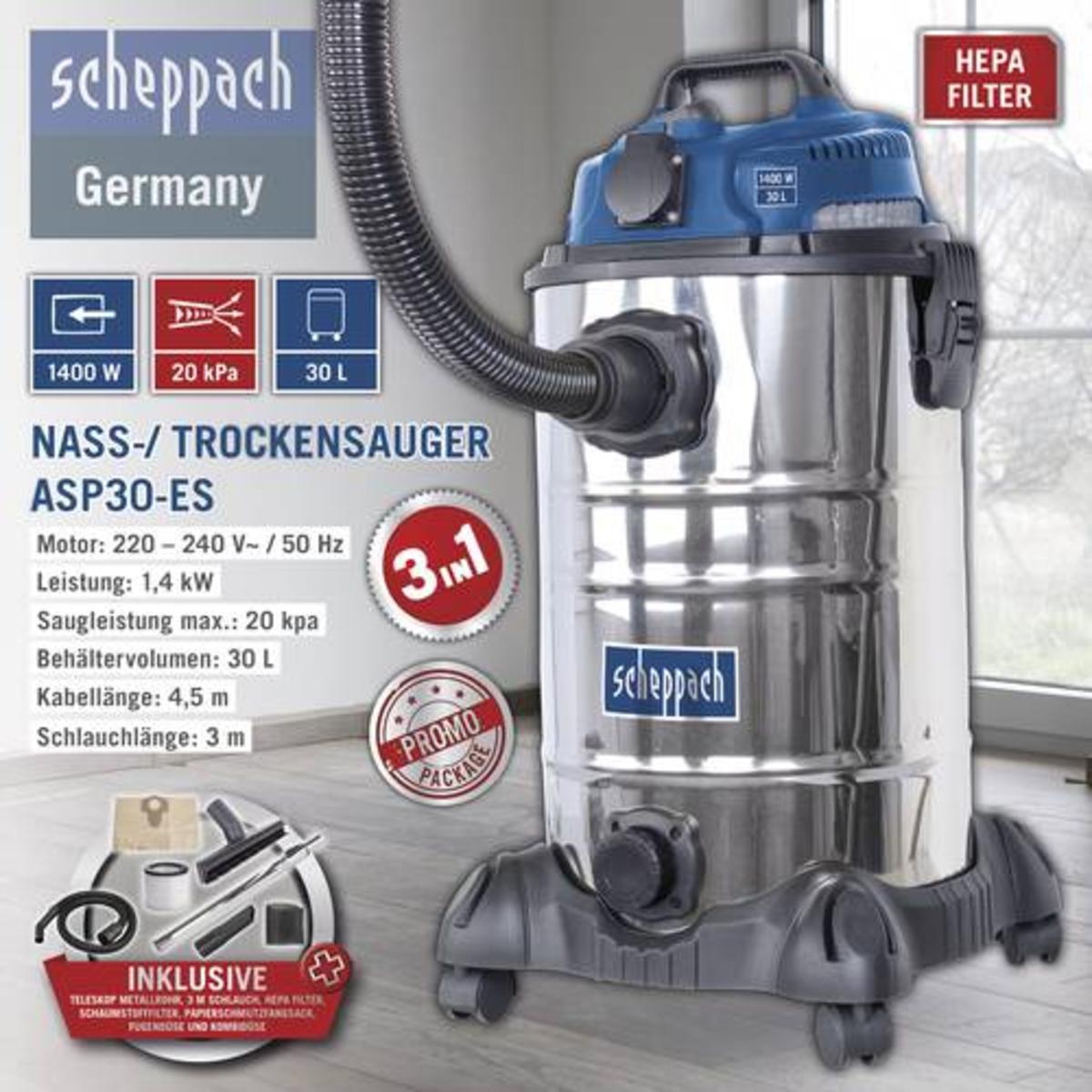 Bild 1 von Scheppach Nass-/ Trockensauger ASP30-ES