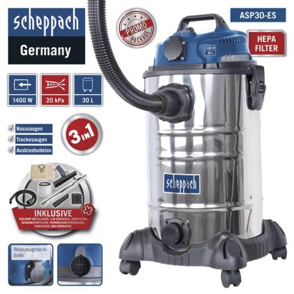 Bild 2 von Scheppach Nass-/ Trockensauger ASP30-ES