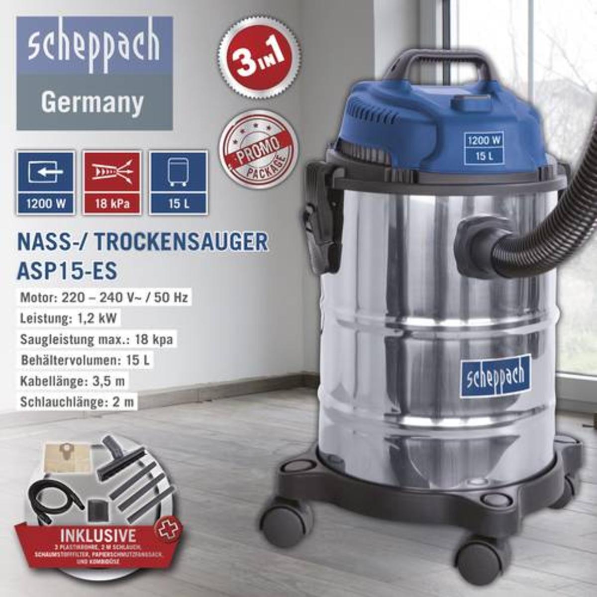 Bild 1 von Scheppach Nass-/ Trockensauger ASP15-ES