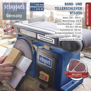 Scheppach Band-und Tellerschleifer BTS900