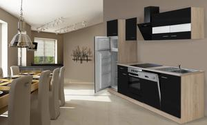 respekta Economy Küchenblock 280 cm, schwarz