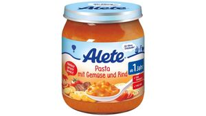 Alete Pasta mit Gemüse und Rind