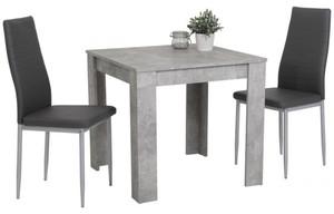 3-teilige Tischgruppe Duo Beton Optik