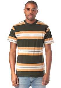 RVCA Oxnard Stripe - T-Shirt für Herren - Braun