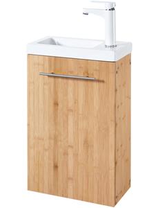 Waschtisch »Bambus New«, Waschplatz, 40 cm breit, für das Gästebad, 2-tlg., SlimLine
