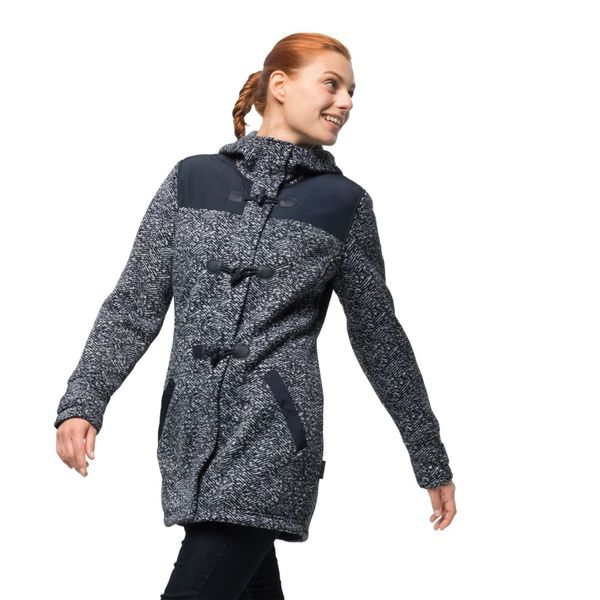 watch coupon code super cute Jack Wolfskin Fleecemantel Frauen Belleville Coat M blau von ...