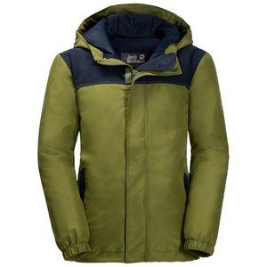 Jack Wolfskin Winter-Hardshell Jungen Boys Kajak Falls Jacket 116 grün