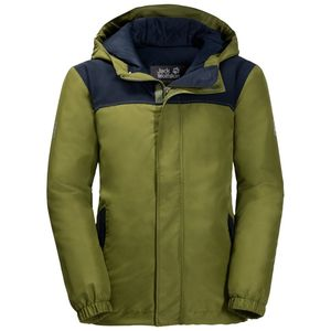 Jack Wolfskin Winter-Hardshell Jungen Boys Kajak Falls Jacket 104 grün