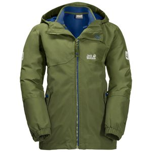 Jack Wolfskin 3-in-1 Hardshell Jungen Boys Iceland 3in1 Jacket 116 grün