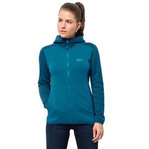 Jack Wolfskin Fleecejacke Frauen ELK Hooded Jacket Women XS blau
