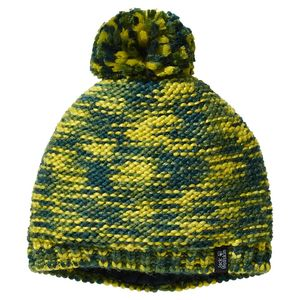 Jack Wolfskin Mütze Kinder Kaleidoscope Knit Cap Kids M grün