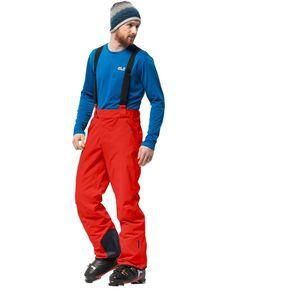 Jack Wolfskin Skihose Männer Exolight Pants Men 54 rot