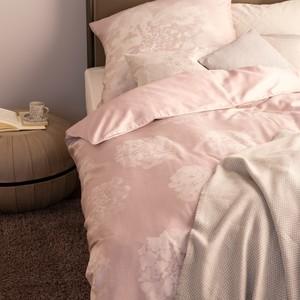 Schöner Wohnen Bettwäsche Flora nude / rosa, GRÖßENAUSWAHL:135x200 cm + 80x80 cm