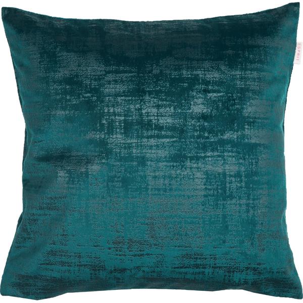 ESPRIT Stratch Samt-Kissenhülle 38 x 38 cm, Farbe Smaragd (Blaugrün)