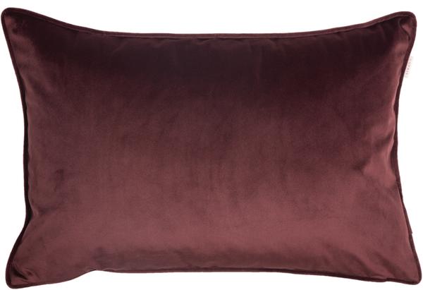 ESPRIT Cuddly Samt-Kissenhülle 38 x 58 cm, Farbe Bordeaux