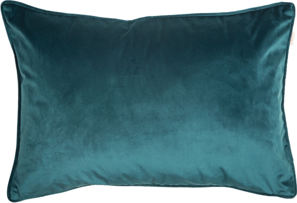 ESPRIT Cuddly Samt-Kissenhülle 38 x 58 cm, Farbe Smaragd (Blaugrün)