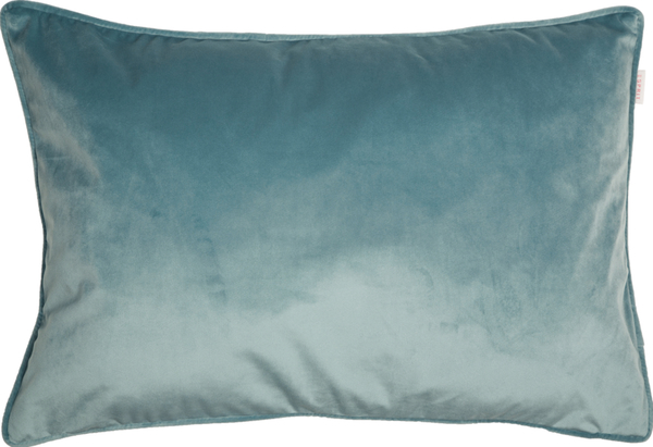 ESPRIT Cuddly Samt-Kissenhülle 38 x 58 cm, Farbe Fjord (blasses Blau)