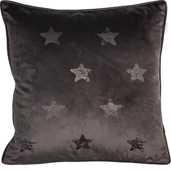 ESPRIT Velvetstar Samt-Kissenhülle 45 x 45 cm, Farbe Braun
