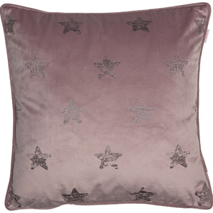 ESPRIT Velvetstar Samt-Kissenhülle 45 x 45 cm, Farbe Nude (Rosé)