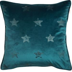 ESPRIT Velvetstar Samt-Kissenhülle 45 x 45 cm, Farbe Smaragd