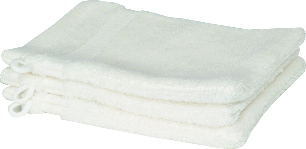 Bild 1 von Schöner Wohnen Cuddly-H Waschhandschuh 3er Set, 16x21cm, weiss