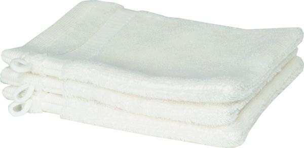 Schöner Wohnen Cuddly-H Waschhandschuh 3er Set, 16x21cm, weiss