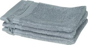 Schöner Wohnen Cuddly-H Waschhandschuh 3er Set, 16x21cm, grau