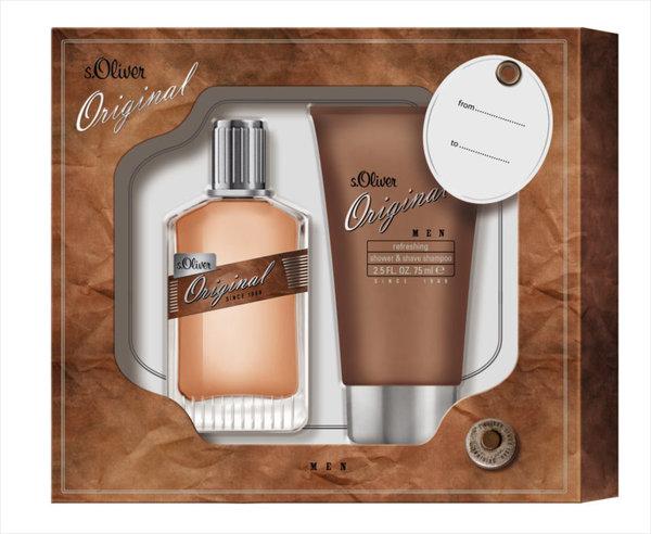 s.Oliver Original Men Duo Set 1 x Eau de Toilette Spray 30 ml + 1x Shower & Shave Shampoo 75 ml