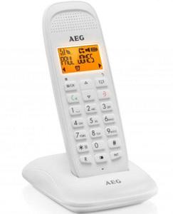 AEG VOXTEL D81, DECT-Telefon, Kabelloses Mobilteil, Freisprecheinrichtung, 50 Eintragungen, Anrufer-Identifikation, Weiß